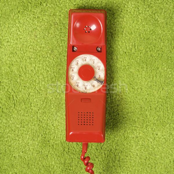 Retro red telephone. Stock photo © iofoto