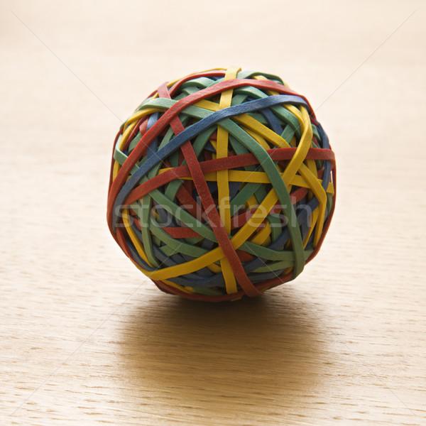 Elastiekje bal stilleven kleurrijk business kleur Stockfoto © iofoto