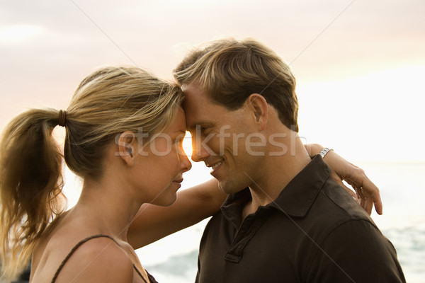 Affectionate Couple By the Ocean Stock photo © iofoto