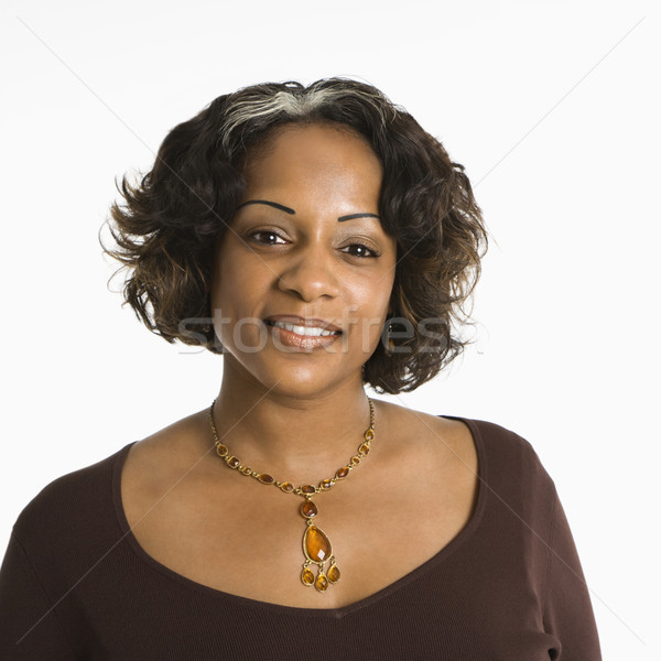 Stock photo: Smiling woman portrait.