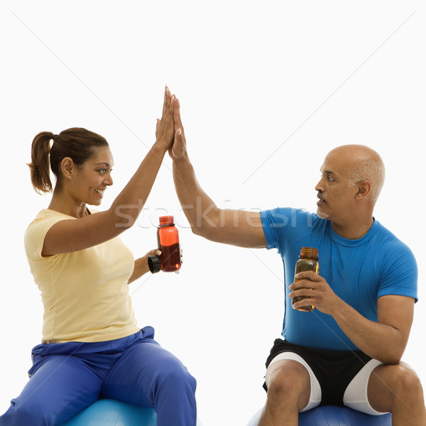 Twee mensen hoog volwassen man vrouw Stockfoto © iofoto