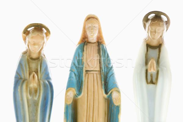 Keresztény szűz szobor kezek ki angyali Stock fotó © iofoto