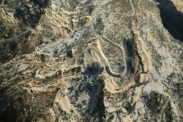 Winding desert road. Stock photo © iofoto