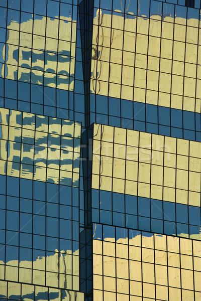 Toronyház épület absztrakt közelkép oldal városi Stock fotó © iofoto