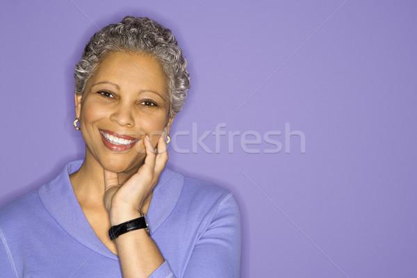 Portrait of woman smiling. Stock photo © iofoto