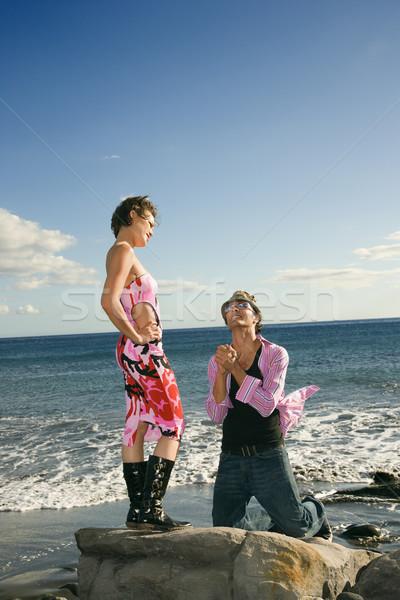 Man begging to woman. Stock photo © iofoto