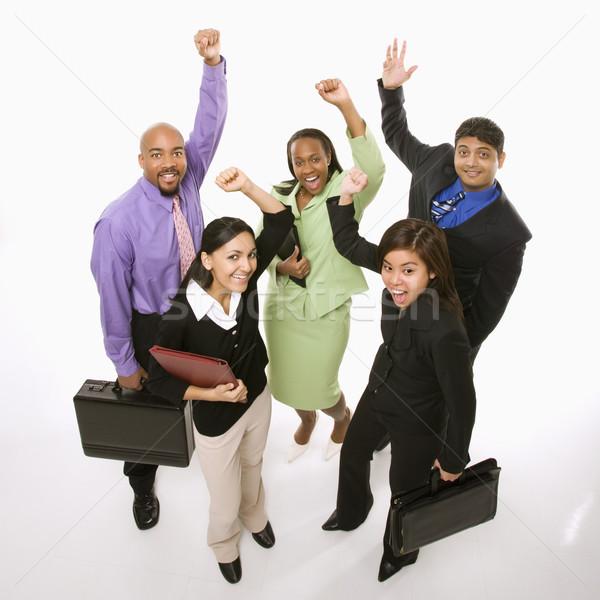 Happy businesspeople. Stock photo © iofoto