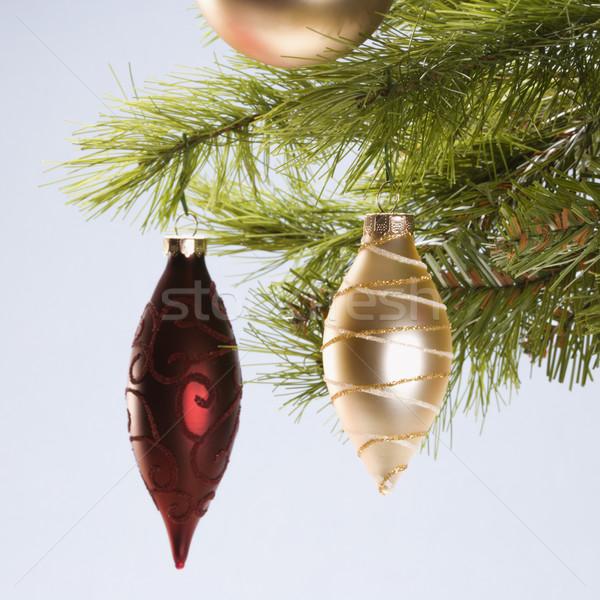 Natale ornamenti ancora vita rosso oro impiccagione Foto d'archivio © iofoto