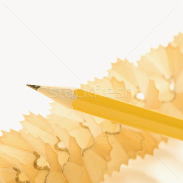 Pencil and shavings. Stock photo © iofoto