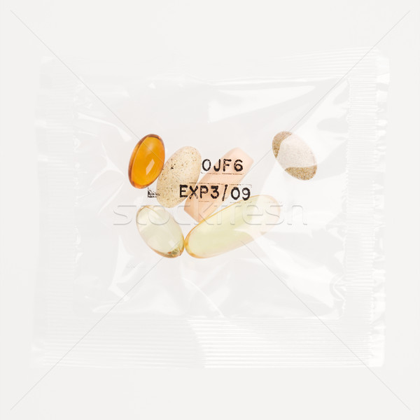 Daily Vitamin Supplement Pack. Isolated Stock photo © iofoto