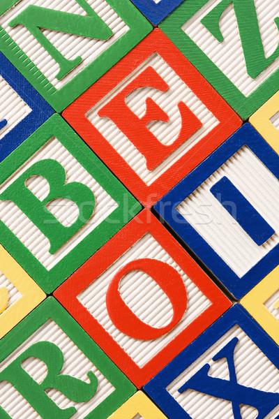Tömbházak ábécé oktatás csoport levél játékok Stock fotó © iofoto
