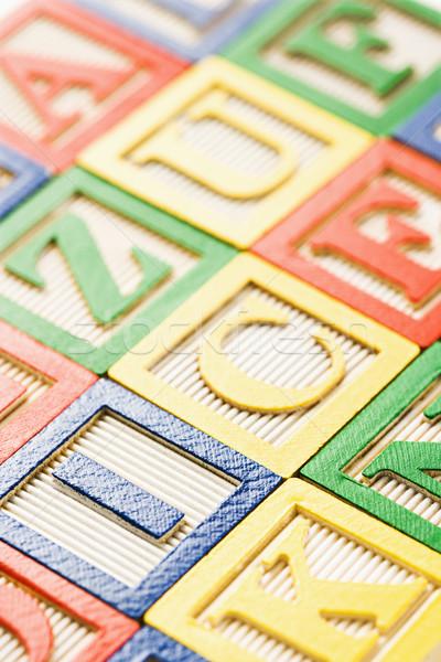 ábécé építőkockák oktatás csoport levél játékok Stock fotó © iofoto