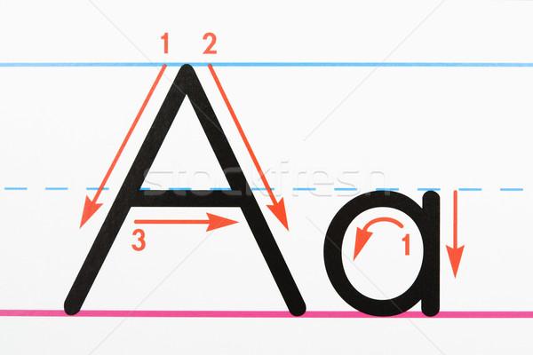 Carta letra página prática papel Foto stock © iofoto