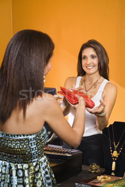 Sales clerk and customer. Stock photo © iofoto