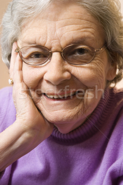 Mature woman portrait. Stock photo © iofoto