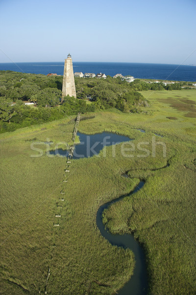 Lighthouse in marsh. Stock photo © iofoto