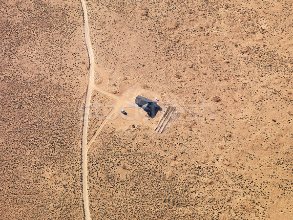 Remote house aerial. Stock photo © iofoto