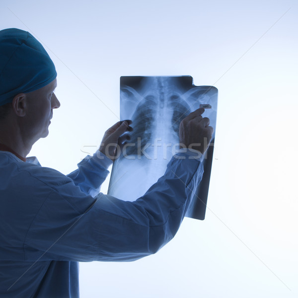 Doctor reading xray. Stock photo © iofoto