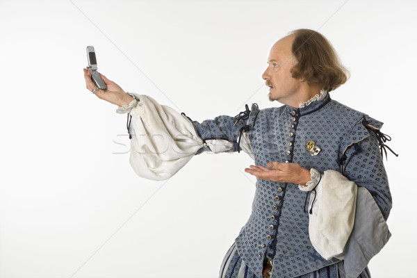Shakespeare with cell phone. Stock photo © iofoto