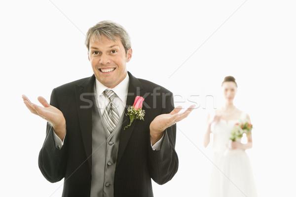 Marié premier plan mains Photo stock © iofoto