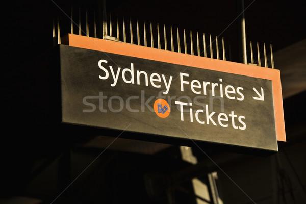 Balsa bilhetes Sydney Austrália assinar indicação Foto stock © iofoto