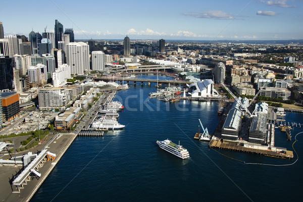 Porto Sydney navios barcos ver Foto stock © iofoto