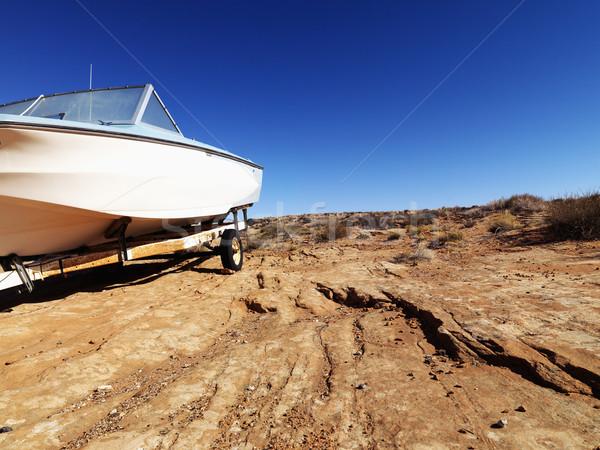 Motorcsónak Arizona sivatag tájkép ül vidéki Stock fotó © iofoto