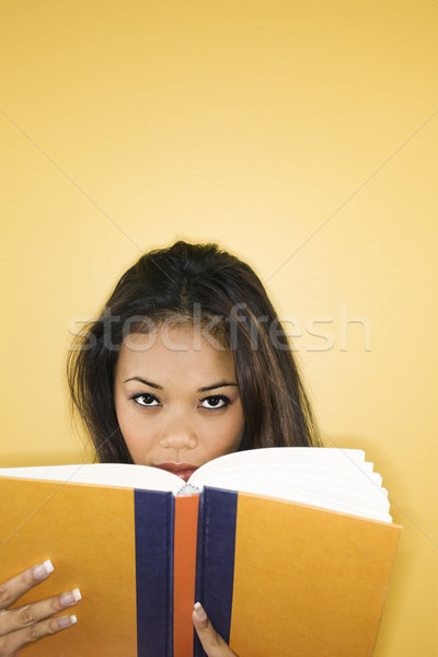 Woman reading book. Stock photo © iofoto