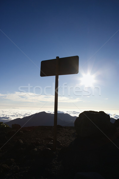 Sign in Haleakala Park, Maui. Stock photo © iofoto