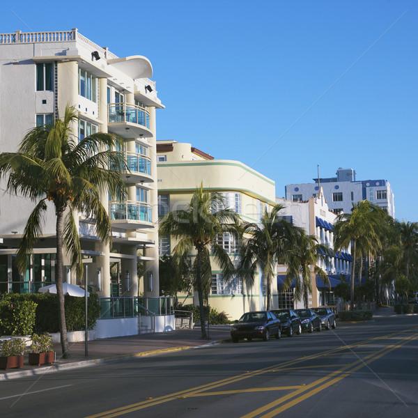 Art deco wijk Miami gebouwen street art Florida Stockfoto © iofoto