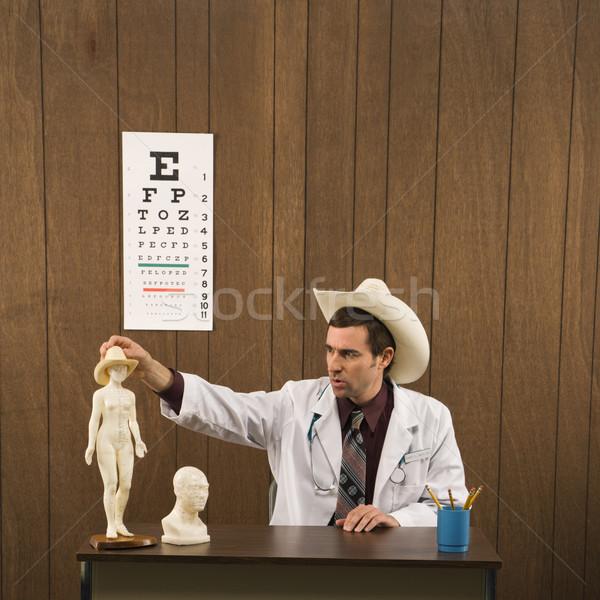 Medico medico di sesso maschile indossare cappello da cowboy Foto d'archivio © iofoto