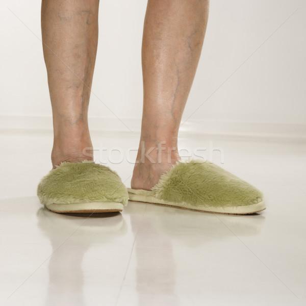 Ayaklar terlik kafkas kıdemli kadın Stok fotoğraf © iofoto