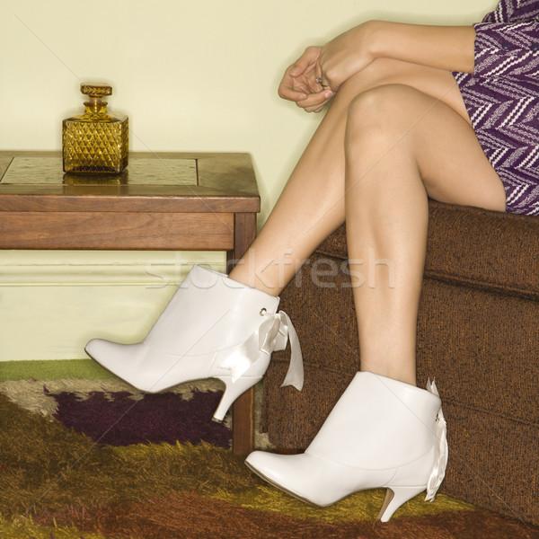 Gambe stivali primo piano femminile Foto d'archivio © iofoto