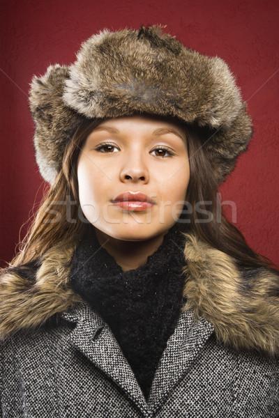 Woman in outerwear. Stock photo © iofoto