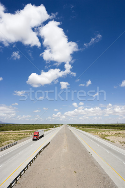 Stock photo: Highway with truck.