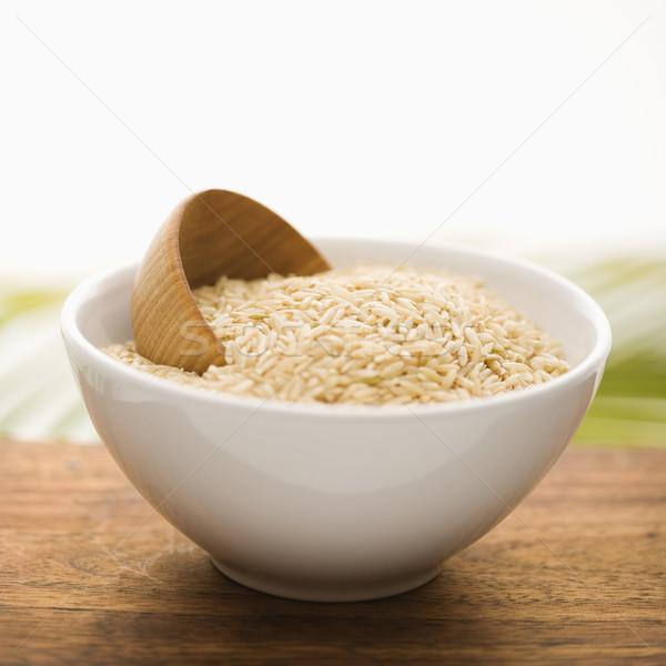 Grain in a White Ceramic Bowl. Isolated Stock photo © iofoto