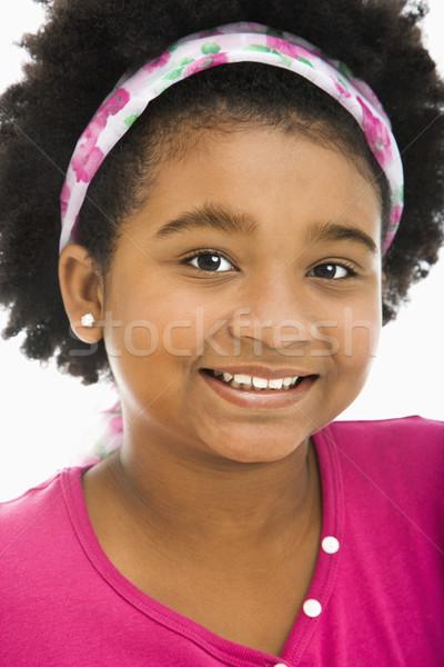 Happy preteen girl. Stock photo © iofoto