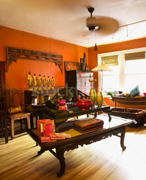 Casa armazenar interior eclético mobiliário design de interiores Foto stock © iofoto