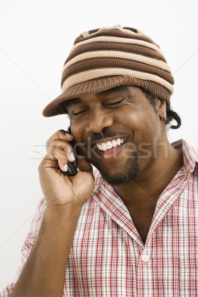 Man on cellphone. Stock photo © iofoto