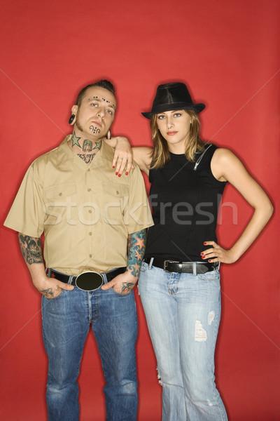 Adulto masculina muchacha adolescente caucásico hombre adolescente Foto stock © iofoto