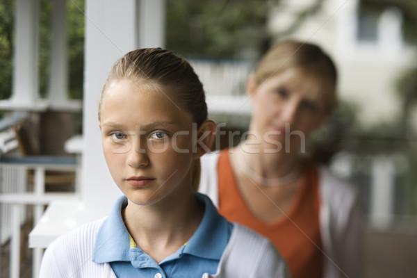 Figlia mamma ragazza madre dietro Foto d'archivio © iofoto