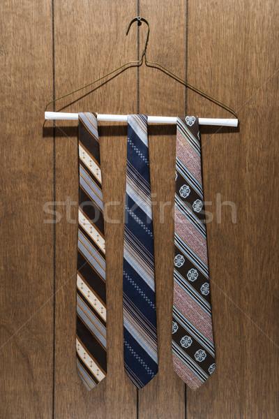 Retro patterned neckties. Stock photo © iofoto