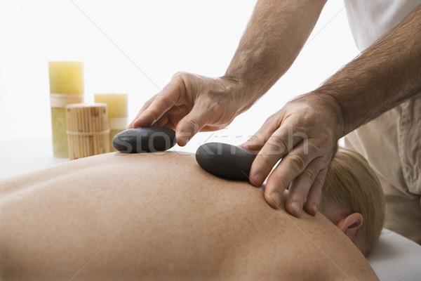 Caldo pietra massaggio maschio Foto d'archivio © iofoto