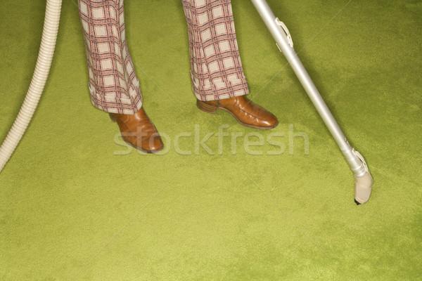 человека ковер кавказский мужчины ног Сток-фото © iofoto