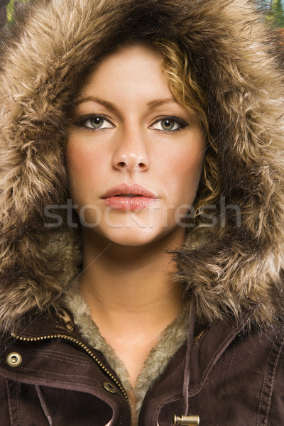 Woman in winter coat.. Stock photo © iofoto