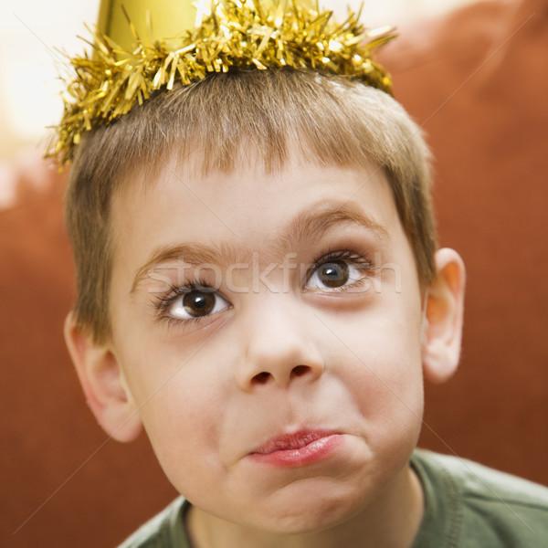 Boy birthday portrait. Stock photo © iofoto