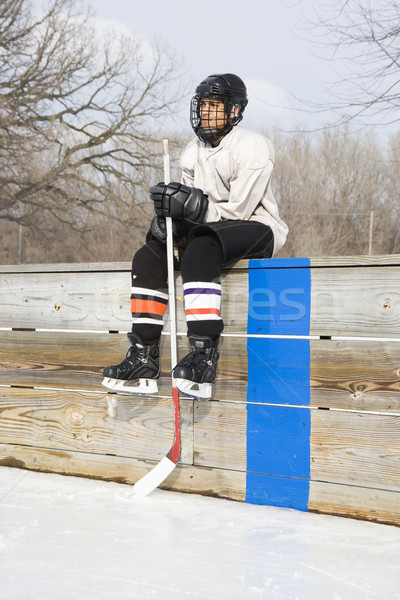 Ice hockey player. Stock photo © iofoto