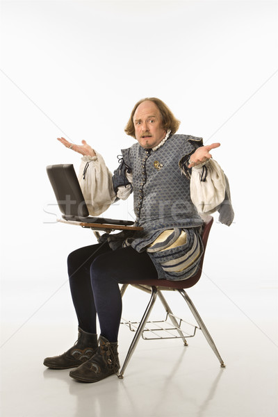 Shakespeare with laptop. Stock photo © iofoto
