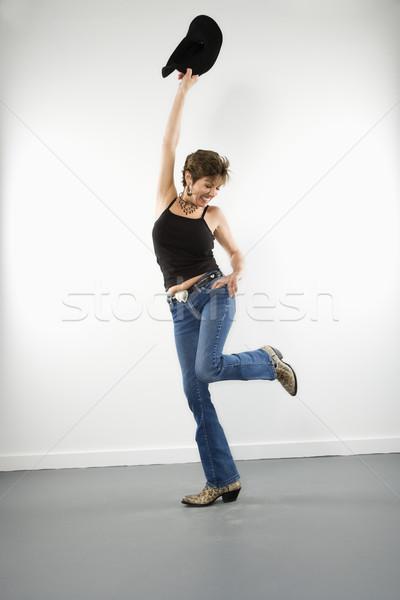 Woman with cowboy hat. Stock photo © iofoto