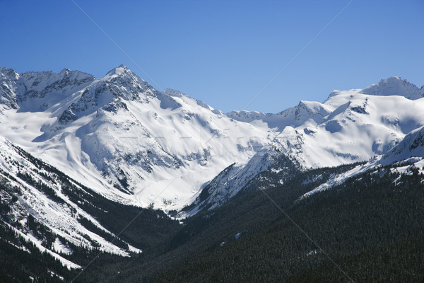 Stock photo: Scenic mountain landscape with snow.